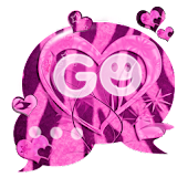 GO SMS Pink Heart Zebra Buy