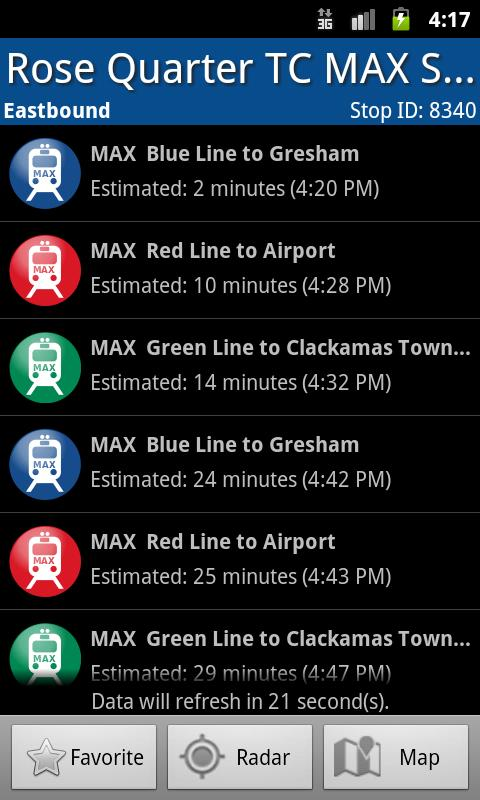 Portland Transit - screenshot