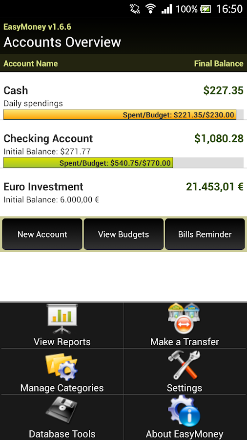 EasyMoney 1.0 - screenshot