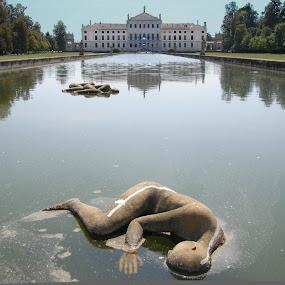 Dormienti by Riccardo Lazzari - Buildings & Architecture Statues & Monuments ( villa pisani, dormienti, mimmo paladino, stra, contemporary art,  )