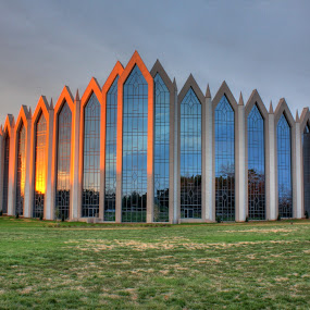 Calvary Church Charlotte, NC by George Holt - Buildings & Architecture Places of Worship ( reflection, church, nc, charlotte, sunrise, calvary )