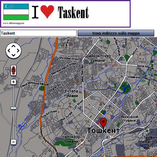 Taskent map