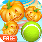Pumpkin vs Tennis Halloween: Swipe and Knockdown