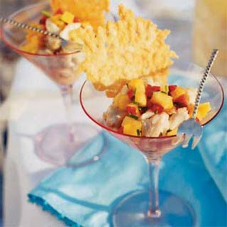 Crab Cocktail with Parmesan Chips