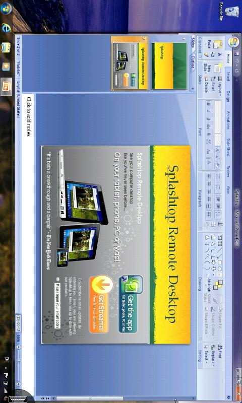 Splashtop Remote Desktop- screenshot