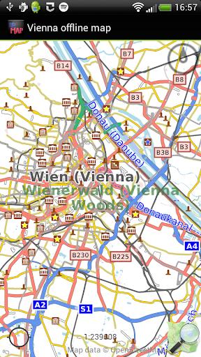 Vienna offline map