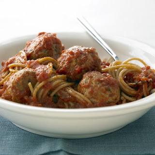 Whole-Wheat Spaghetti with Turkey Meatballs.