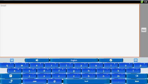 【免費個人化App】新的藍 感覺 GO鍵盤-APP點子