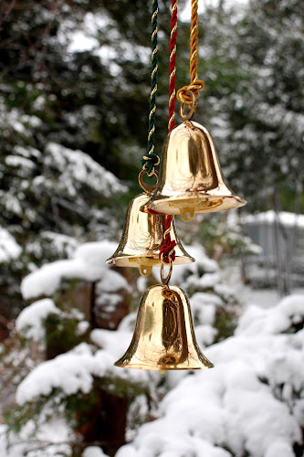 Holiday Bells by Jane Spencer - Public Holidays Christmas ( evergreens, winter, bells, christmas, reflections, , decoration, object )