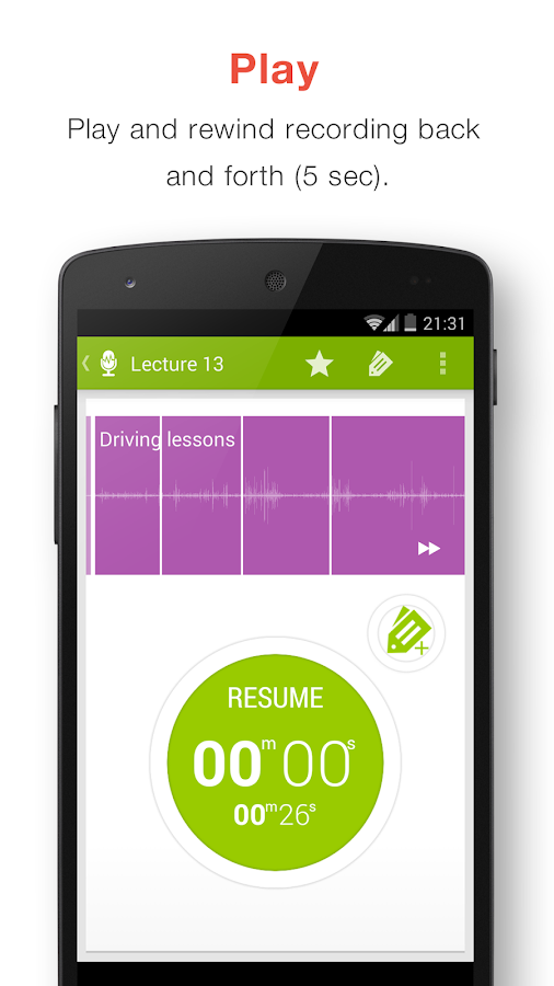Recordense Voice Recorder- screenshot