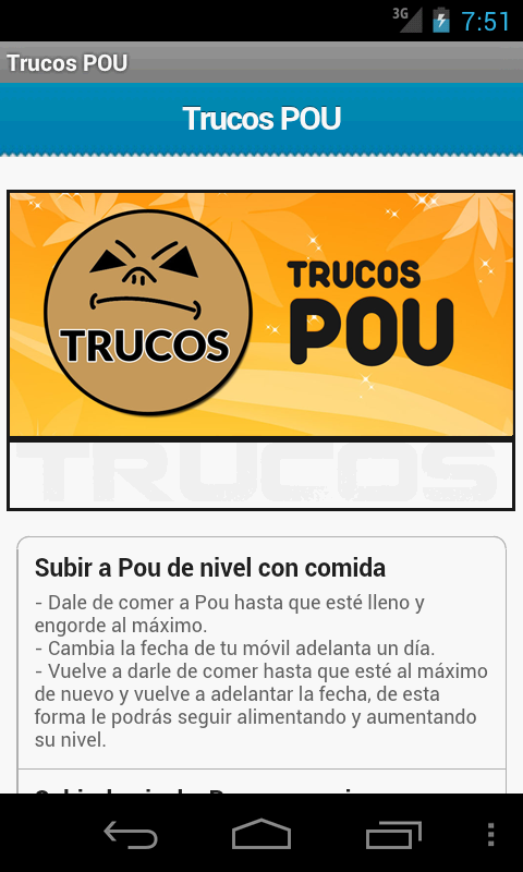 Trucos Pou- screenshot
