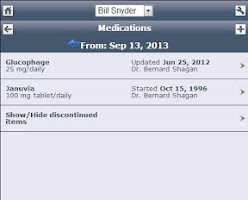 Screenshot of Track My Medical Records