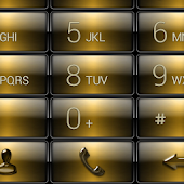 exDialer Gloss Gold Theme Skin