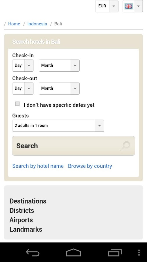 All Bali Hotels - screenshot
