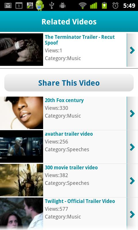 Video Sharing - screenshot