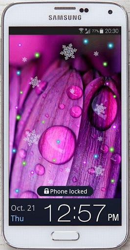 Purple Rose HD live wallpaper
