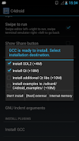 Screenshot of GCC plugin for C4droid C++ IDE