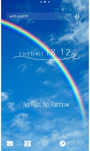 可愛い壁紙・アイコン*No Rain No Rainbow