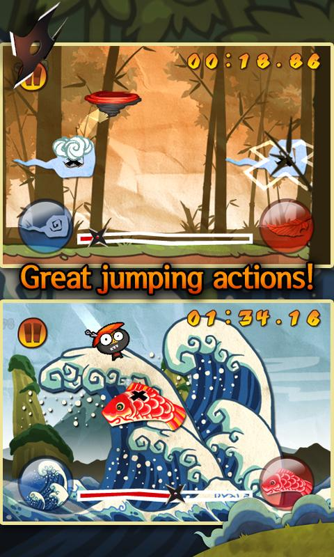 Ninja Bounce- screenshot