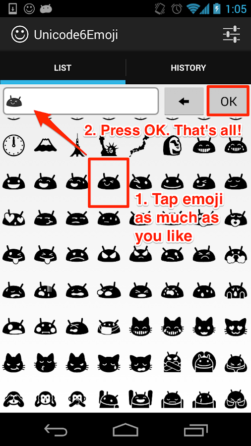 Unicode6Emoji- screenshot