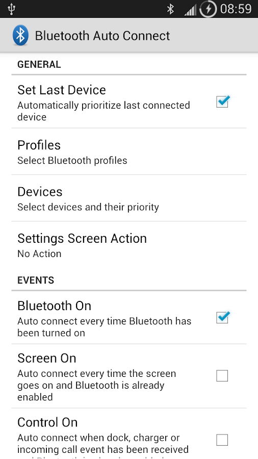 Bluetooth Auto Connect - screenshot