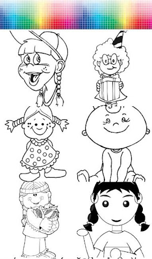 Girl- Coloring Page