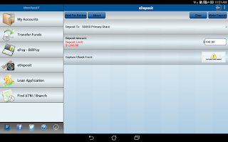 Screenshot of Jefferson Financial CU Mobile