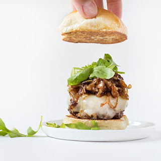Mini Burgers with Caramelized Onions and Roasted Garlic