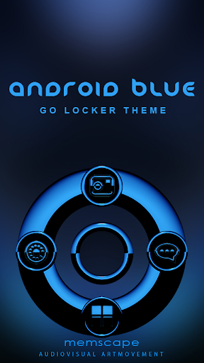 GO Locker Theme Android Blue
