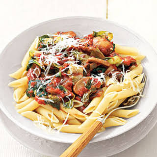 Pasta with Tomato-Mushroom Sauce.