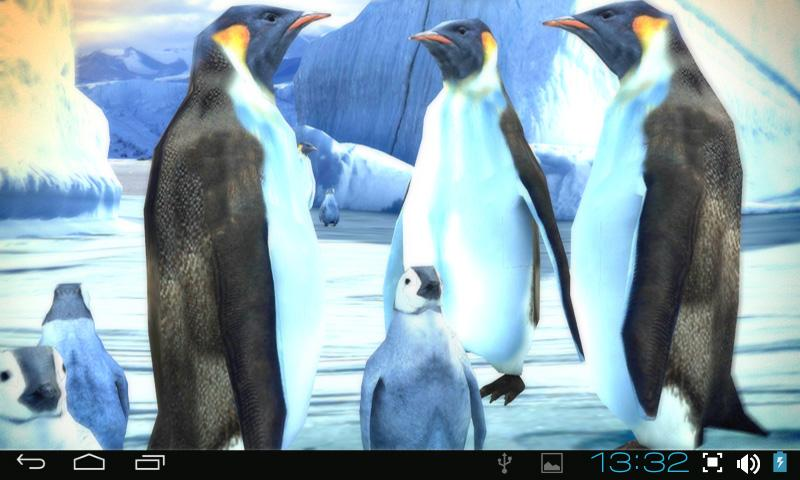Penguins 3D Pro Live Wallpaper - screenshot