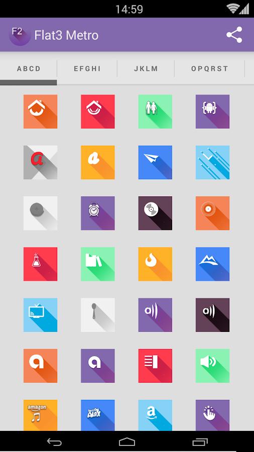 Saga3 metro style - Icon Pack - screenshot