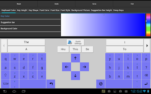 Adaptxt Tablet Keyboard - Free- screenshot thumbnail