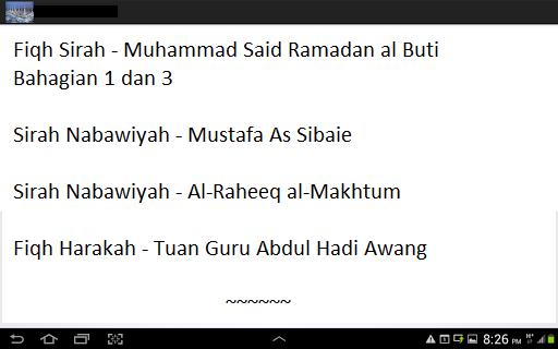Sirah Nabi bahasa Malaysia