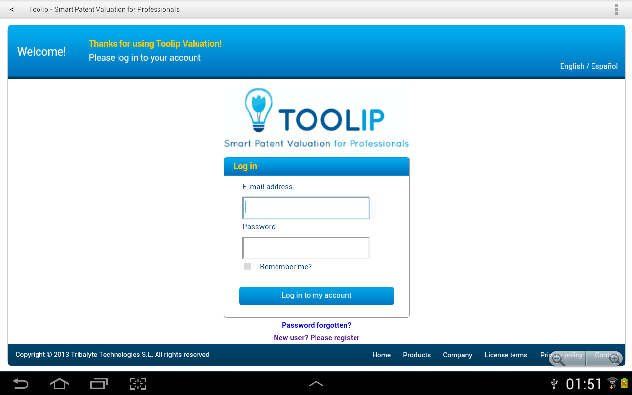 Toolip Valuation- screenshot