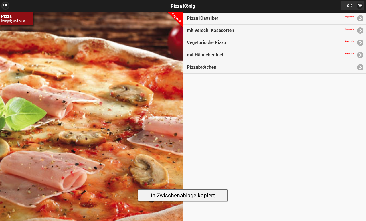 Pizza König- screenshot