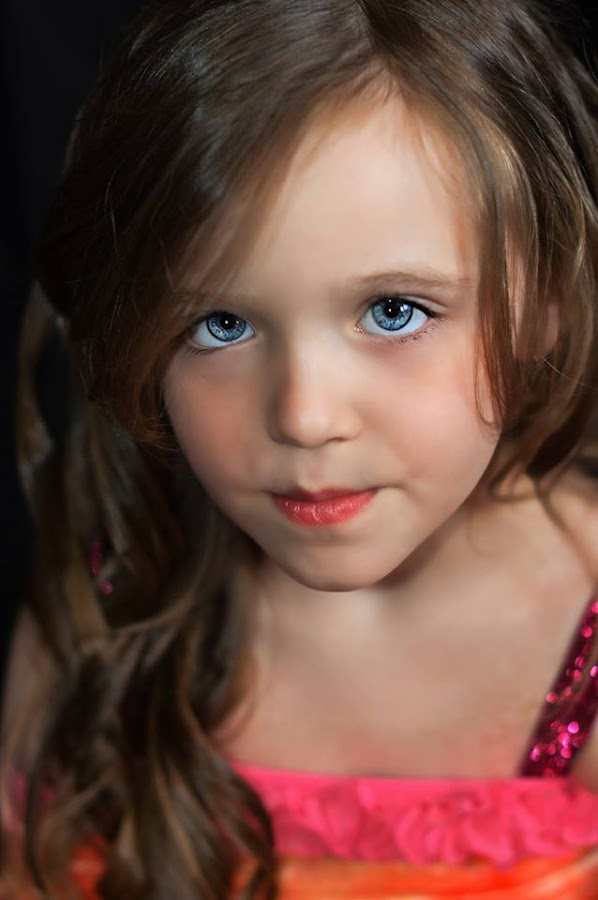 Colby being serious by Tammi Allred - Babies & Children Child Portraits ( child model, blue eyes, face, photography, closeup, close, up )
