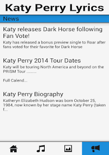 Katy Perry Songs & Lyrics App - screenshot thumbnail