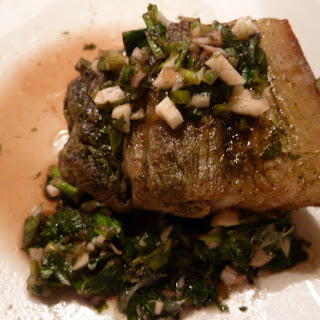 Matcha Roasted Pork Belly With Chimichurri Sauce
