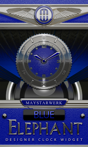 Clock Widget Blue Elephant