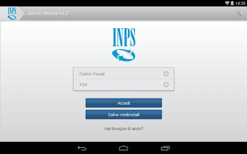 INPS Servizi Mobile per Tablet - screenshot thumbnail