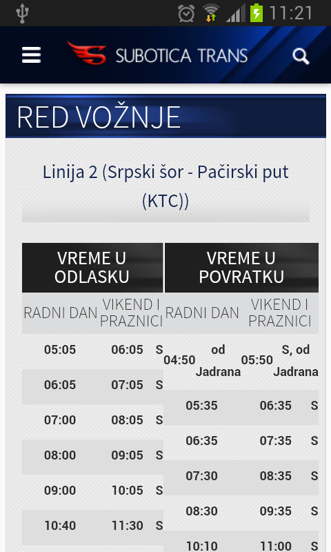 SuTrans - Red vožnje - screenshot