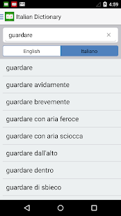 Italian Dictionary English Translator Travel Book- screenshot thumbnail