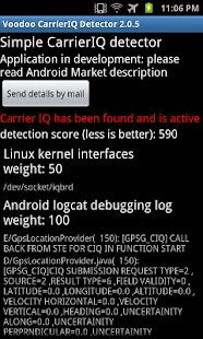 Voodoo Carrier IQ detector - screenshot thumbnail