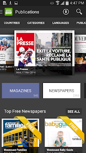 PressReader for Honeycomb - screenshot thumbnail