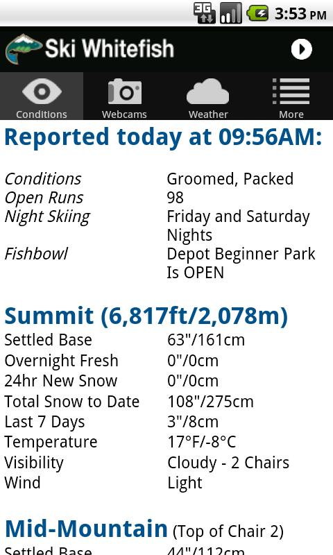 Ski Whitefish - screenshot
