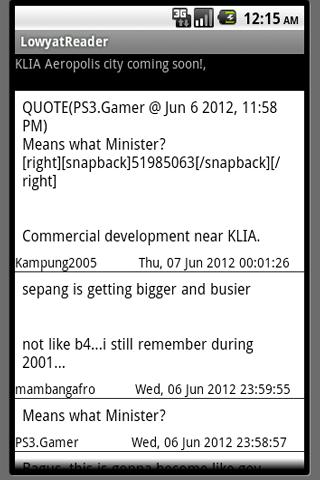 Lowyat Koptiam Reader - BETA - screenshot