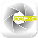 DOF, Depth of Field calculator icon