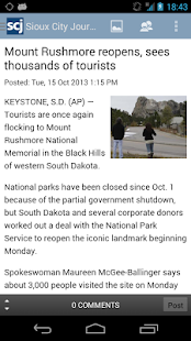 Sioux City Journal - screenshot thumbnail