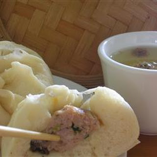 Chinese Steamed Buns with Meat Filling.